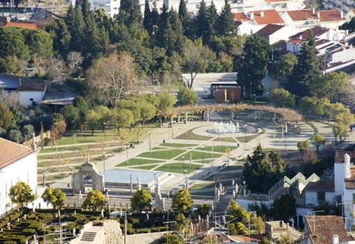 Castelo Branco - parque da cidade,  visto a partir da torre do Castelo