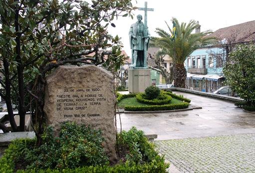 Belmonte - largo dr. ant. josé de almeida - estátua de Pedro Álvares Cabral