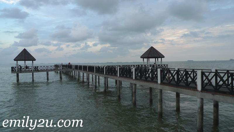 wooden walkway Tanjung Piai