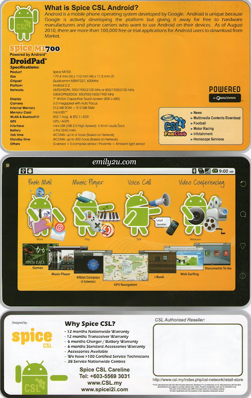 DroidPad brochure