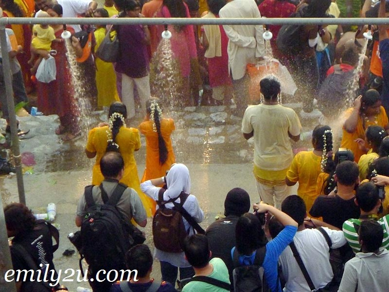 Batu Caves Thaipusam riverside cleansing