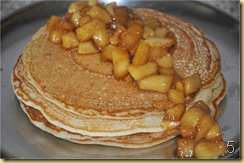Eggless Pancakes with Cinnamon Apples Topping