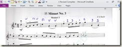 Minuet 3One Note
