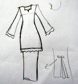 baju yana hari tu ni design baju baju kurung moden ukuran tak buat
