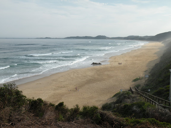 La plage de Brenton-on-Sea, juin 2009. Photo : Eric