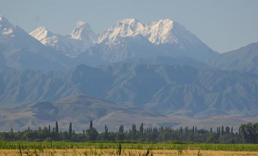 Le Kirghiz range, près de Bishkek, 3 juillet 2006. Photo : J.-M. Gayman