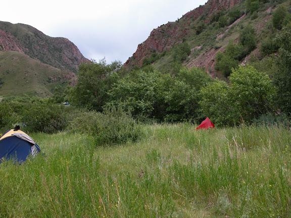 Le campement à Kekemeren (1900 m), le 1er juillet 2006. Photo : B. Lalanne-Cassou