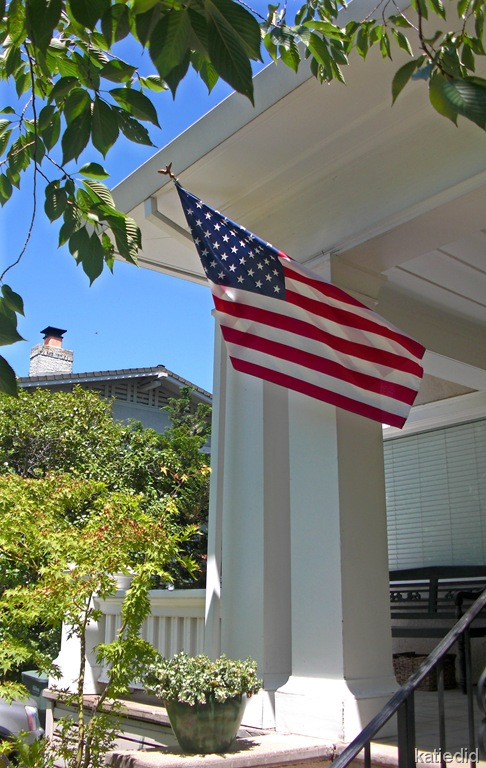 Old Glory on the Front Porch