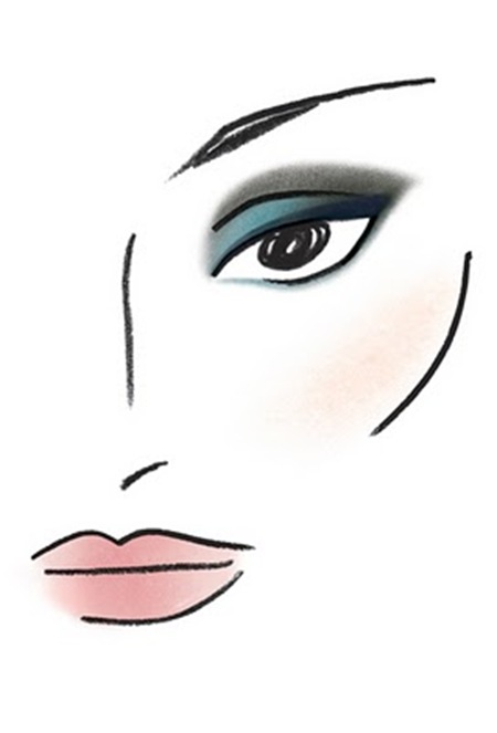 Blue Dahlia_Tom Pecheux Face Chart_Look 1_Blue Dahlia