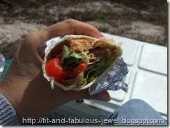 veggie burger wraps camping