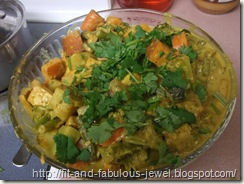 curried vegetable dish