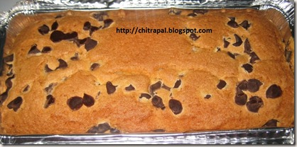 Chitra Pal Chocolate Chip Pound Cake