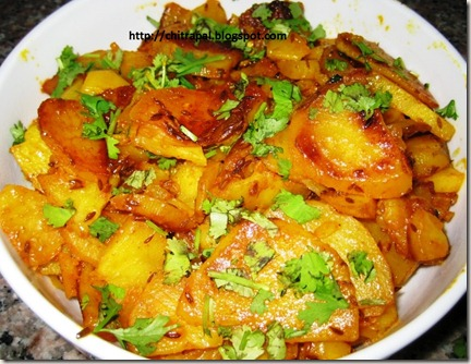 Chitra Pal Dhaniya Aloo Bhaji