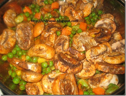 Chitra Pal Marinara Mushroom and Peas Masala