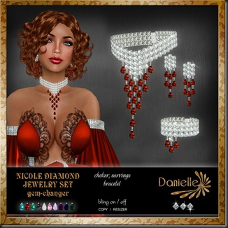 DANIELLE Nicole Diamond Jewelry Set gemchanger'
