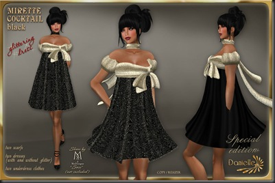 DANIELLE Mirette Cocktail Black Special Edition'