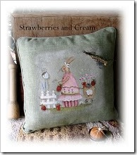 Strawberries and Cream pillow