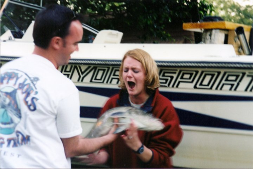 Gary and Heather Fishing in 2000