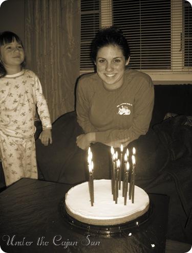 18th birthday smile sepia