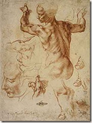 Michelangelo-nude-man-sketch