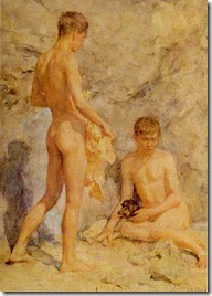 Tuke,_Henry_Scott_(1858–1929)_-_1914_ca_-_Two_boys_and_a_dog
