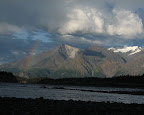 Camping on Jaksina Creek, we were treated to a nice rainbow.