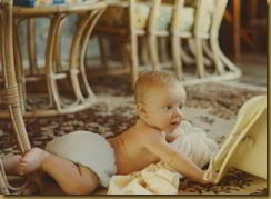 me at five months old