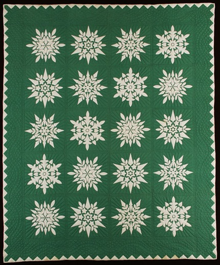 snowflake quilt from IQSC