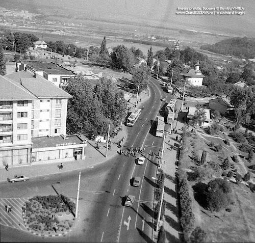 Sens giratoriu în centrul municipiului Suceava
