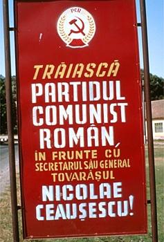 Trăiască Partidul Comunist Român în frunte cu secretarul său general, tovarăşul Nicolae Ceauşescu