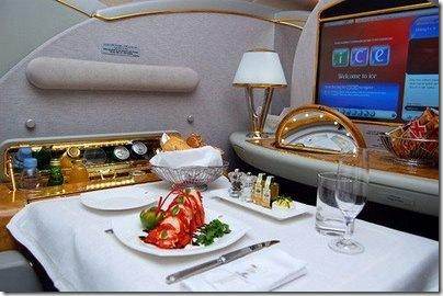 Emirates Airlines Primeira classe suite A380