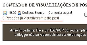 Post Views para o blogger