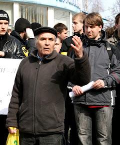 Митинг против вырубки леса (Пятихатки, 28.03.2010) Василий Рудаков, депутат облсовета (ПСПУ)