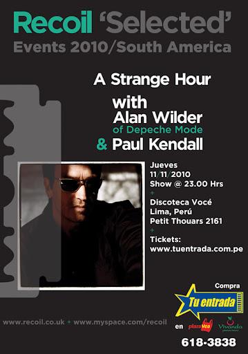 Alan Wilder Lima 11 noviembre