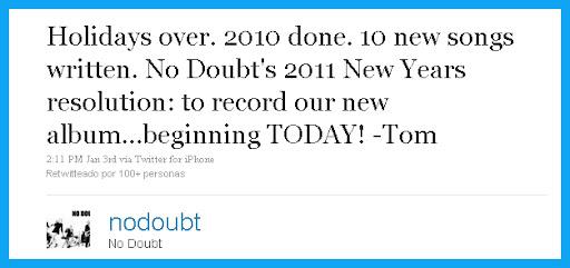 No Doubt Twitter