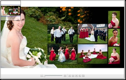 Sample Bridal Album Collage Spread