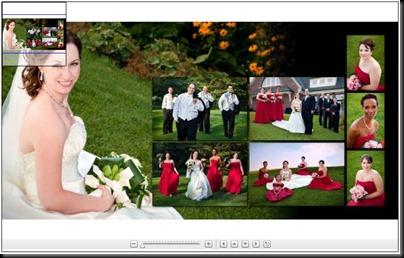 Sample Bridal Album Collage Spread
