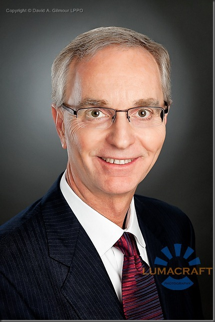 Portrait of business executive Mr. K., produced by David A. Gilmour LPPO of Lumacraft Photography