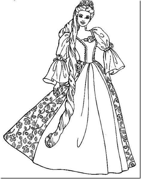 dibujos-princesas-colorear