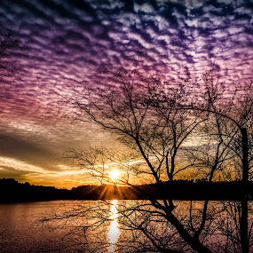 Bumpy Sunset by RomanDA Photography - Landscapes Sunsets & Sunrises ( sky, winter, carolina, sunset )