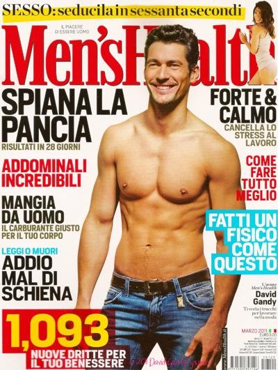 David Gandy by Hamish Brown, Men's Health Italia, March 2011