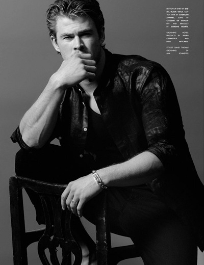 Chris Hemsworth by Yu Tsai, Flaunt #114, 2011