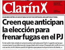 medios trabajando Clarín no descansa ni en domingo (15 de marzo)
