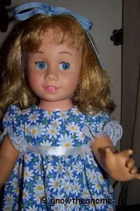 Mattel Chatty Cathy doll Dee an Cee Canada Canadian glassine eyes soft face 1960s