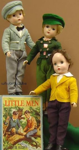 Madame Alexander Little Men doll hard plastic Stuffy Maggie Tommy Bangs Margaret face Nat 1950s Louisa May Alcott