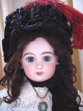 Antique bisque doll Tete Jumeau closed mouth