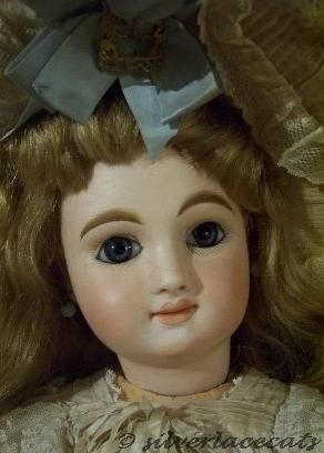Antique bisque doll French bebe paperweight eyes May Frres Cie Bb Mascotte Franois Marseille, Paris 1880s