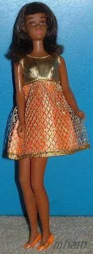 Black Francie Gold Rush African-American 1960s Mattel Barbie doll