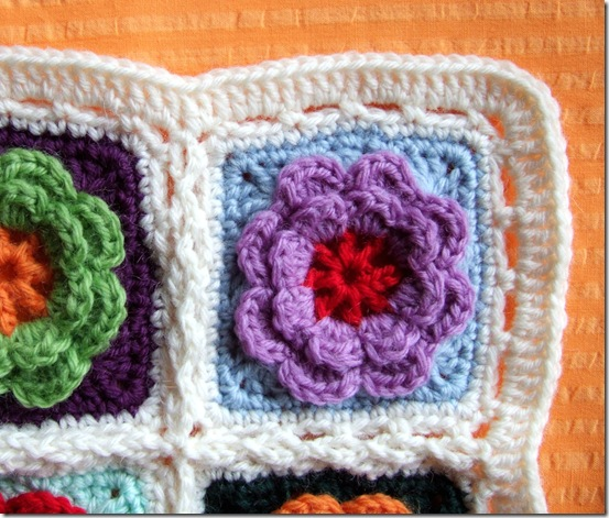 crochet flower pillows