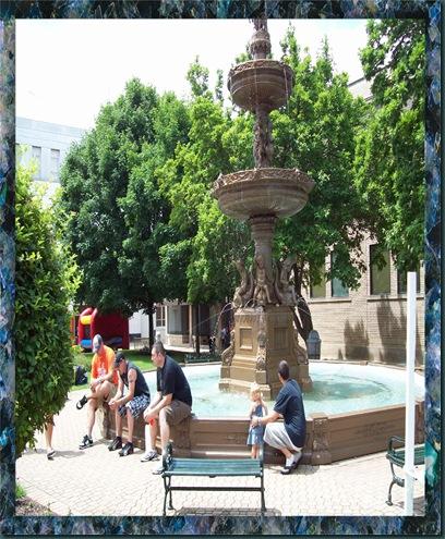 framed fountain